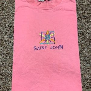 Vintage 90s Saint John single stitch t shirt